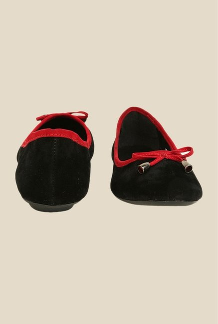 Bruno Manetti Black & Red Flat Ballets
