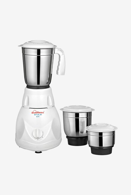 Sunflame MG STYLE DX 500W 3 Jars Mixer Grinder (White)