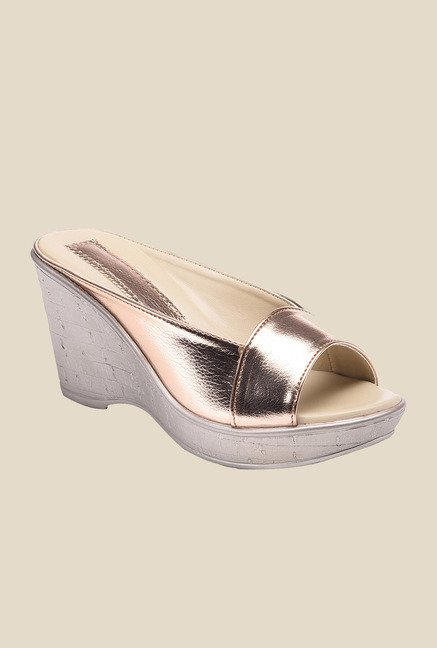 Bruno Manetti Bronze Wedge Heeled Sandals