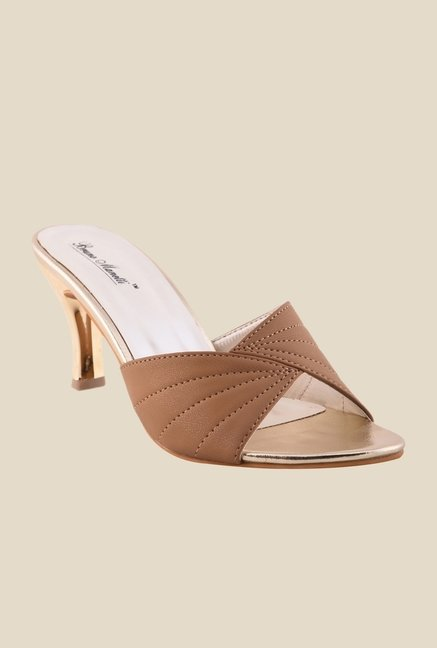 Bruno Manetti Brown Stiletto Heeled Sandals
