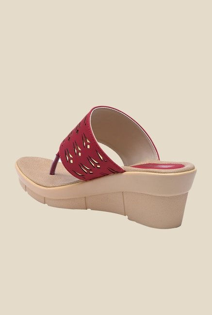 Bruno Manetti Red Thong Sandals