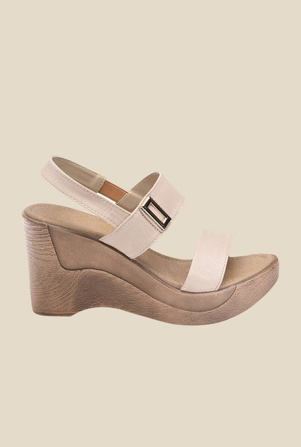 Bruno Manetti Beige Sling Back Wedges