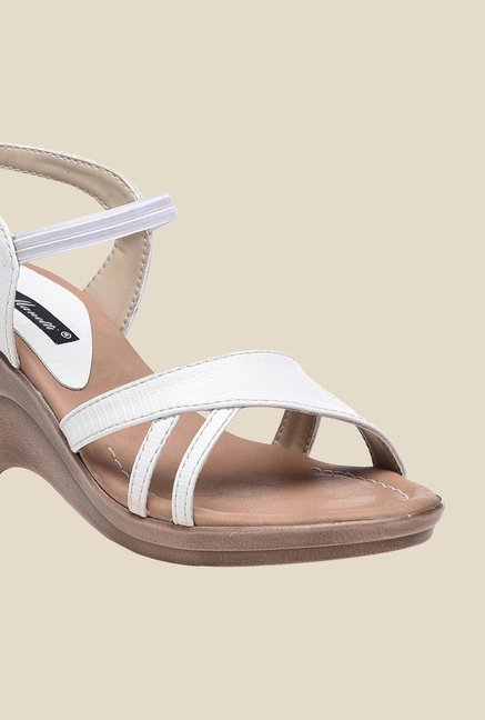 Bruno Manetti White Sling Back Wedges