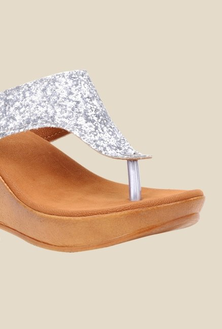 Bruno Manetti Silver Thong Sandals