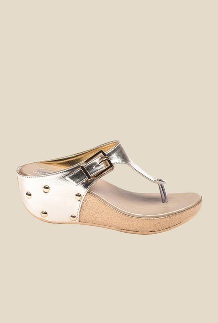 Bruno Manetti Golden Thong Sandals