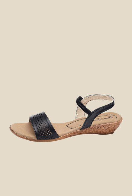 Bruno Manetti Black Sling Back Wedges