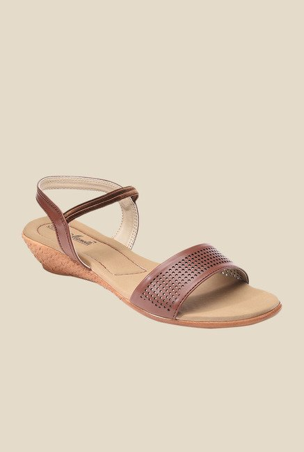 Bruno Manetti Brown Sling Back Wedges