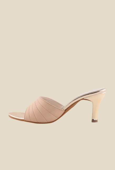 Bruno Manetti Cream Stiletto Heeled Sandals