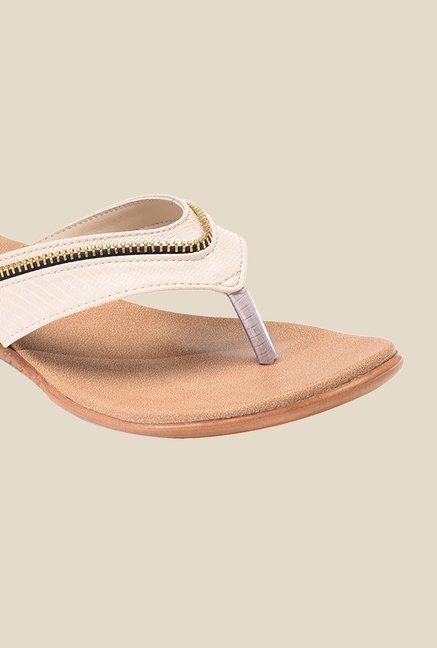 Bruno Manetti Beige Thong Sandals