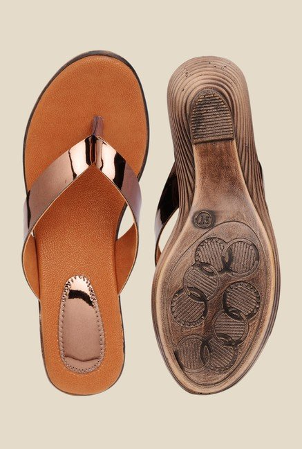 Bruno Manetti Copper Thong Sandals