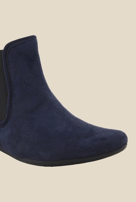 Bruno Manetti Navy Chelsea Boots