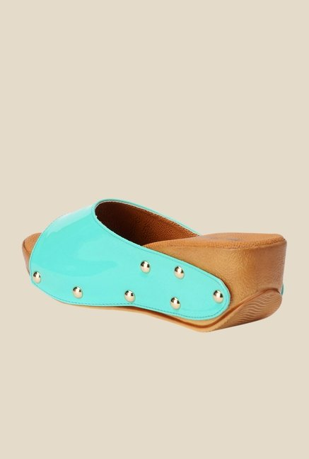 Bruno Manetti Turquoise Wedge Heeled Sandals