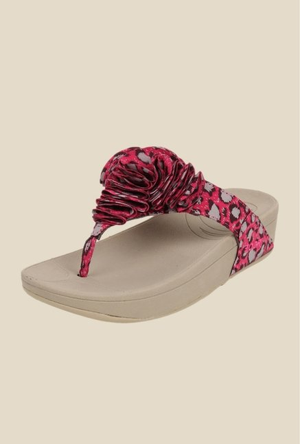 Bruno Manetti Fuchsia Thong Sandals