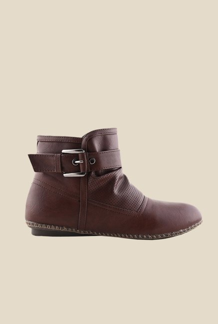 Bruno Manetti Coffee Flat Booties