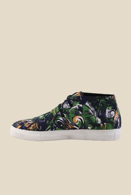 Bruno Manetti Green & Navy Chukka Sneakers