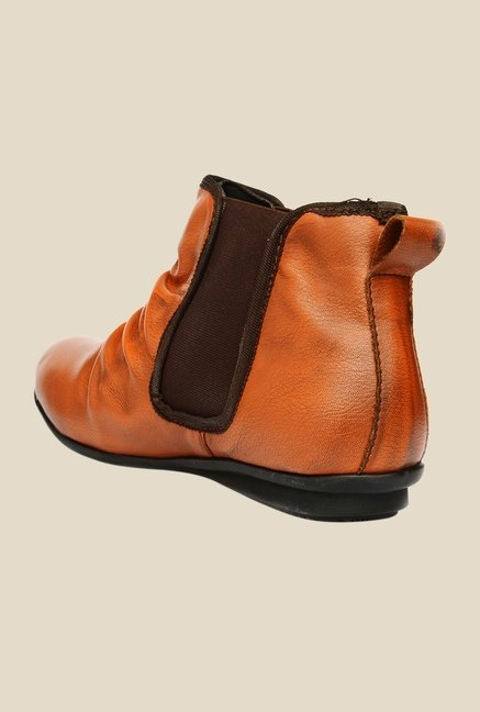 Bruno Manetti Tan & Brown Chelsea Boots