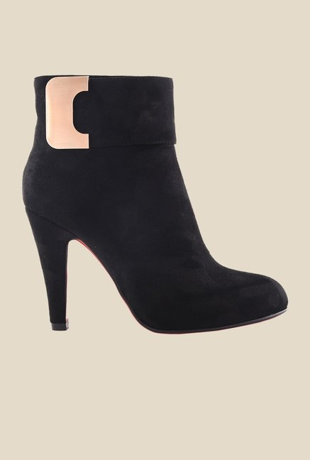 Bruno Manetti Black Stiletto Heeled Booties