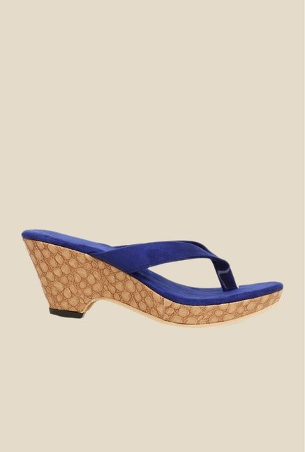 Bruno Manetti Blue Thong Sandals