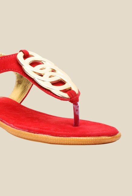 Bruno Manetti Red Sling Back Sandals