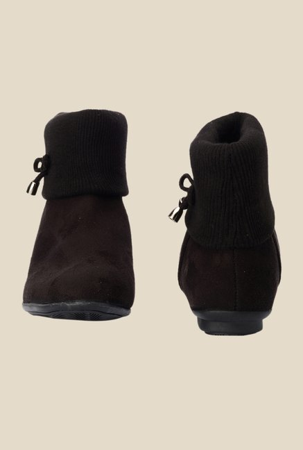 Bruno Manetti Dark Brown & Black Flat Booties