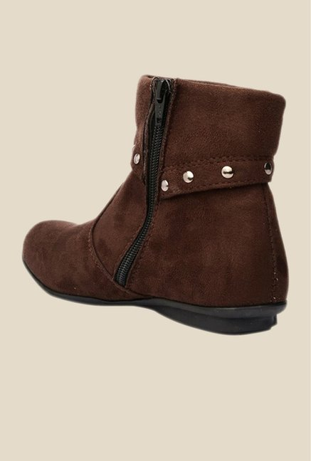 Bruno Manetti Brown Flat Booties