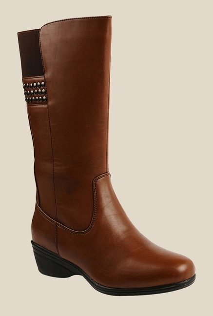 Bruno Manetti Tan Wedge Heeled Booties