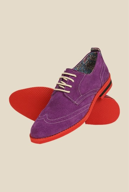 Bruno Manetti Purple & Red Derby Shoes