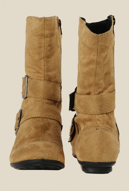 Bruno Manetti Beige Flat Booties