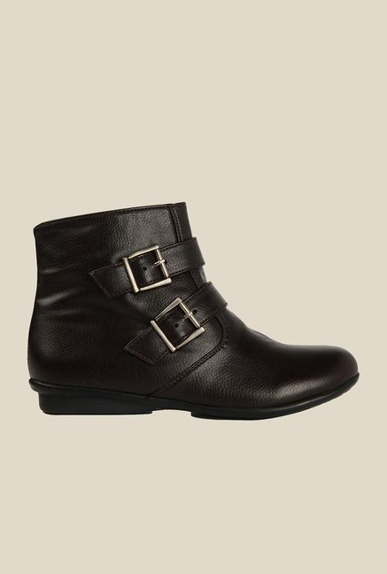 Bruno Manetti Dark Brown Flat Booties
