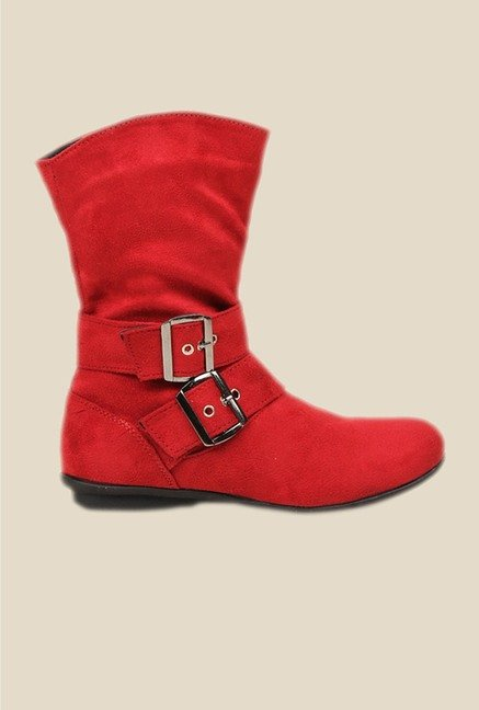 Bruno Manetti Red Flat Booties