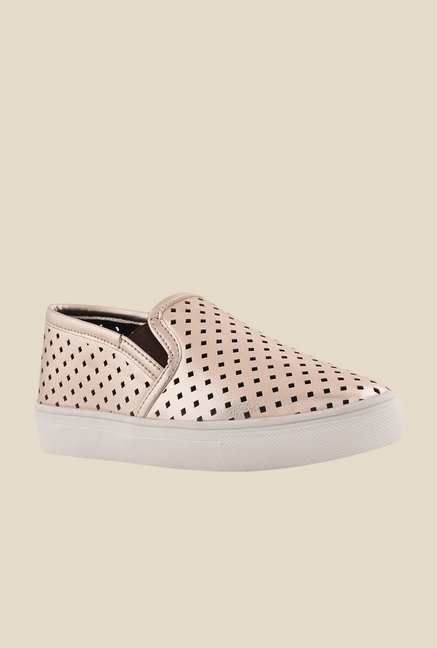Bruno Manetti Gold & White Plimsolls