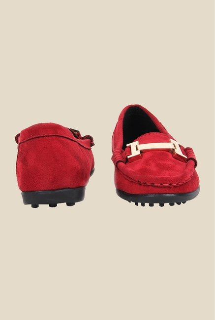 Bruno Manetti Red Casual Loafers