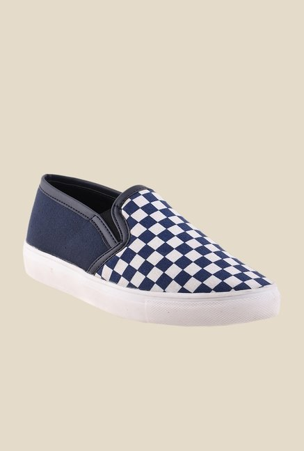 Bruno Manetti Blue & White Plimsolls