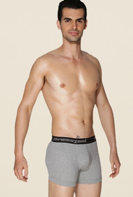 Chromozome Grey, Charcoal, Ash Solid Trunks (Pack Of 3)