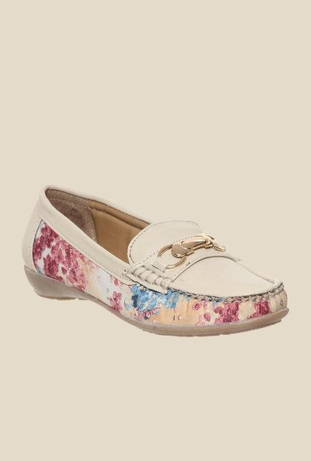 Bruno Manetti Beige & Pink Loafers