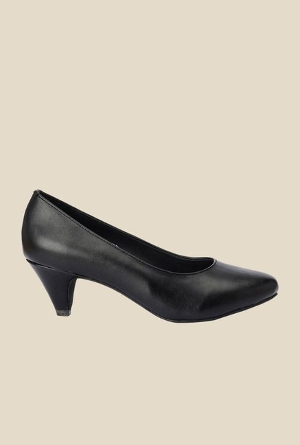Bruno Manetti Black Kitten Heeled Pumps