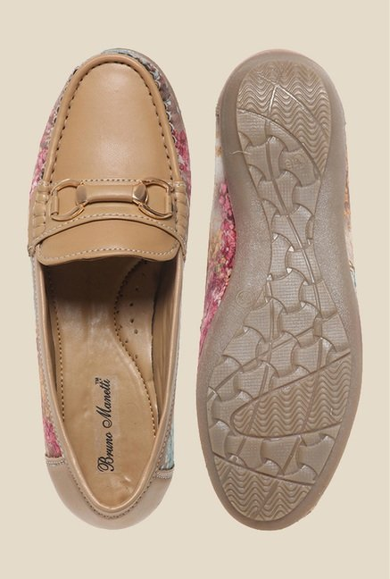 Bruno Manetti Camel & Pink Loafers