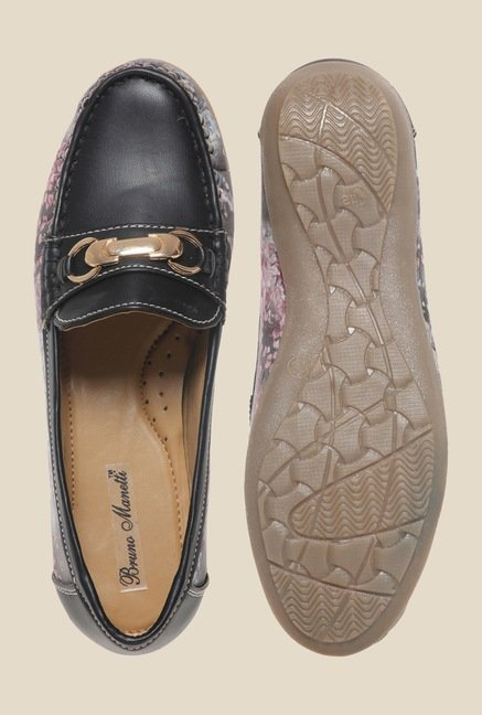 Bruno Manetti Black & Grey Loafers