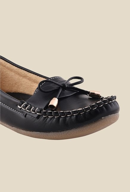 Bruno Manetti Black Casual Moccasins