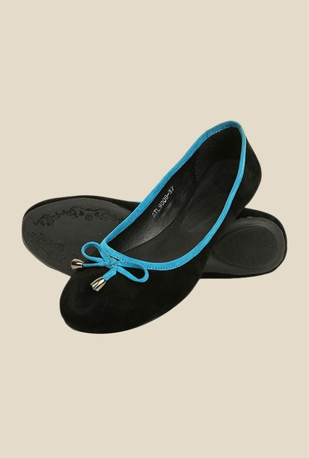 Bruno Manetti Black & Blue Flat Ballets