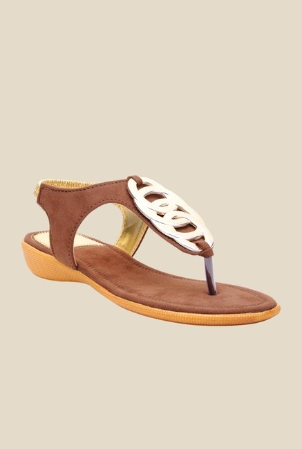 Bruno Manetti Brown Sling Back Sandals