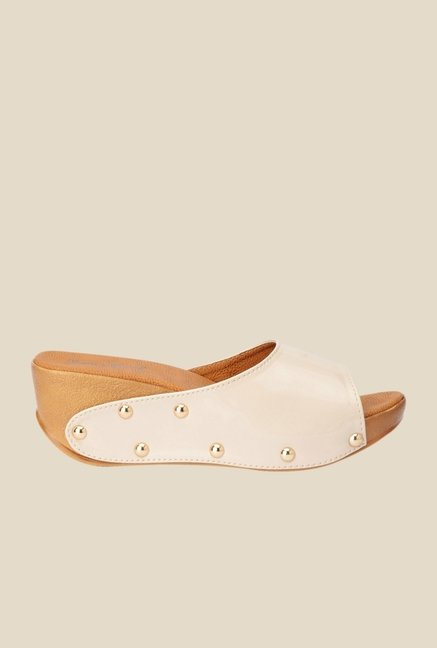 Bruno Manetti Beige Wedge Heeled Sandals