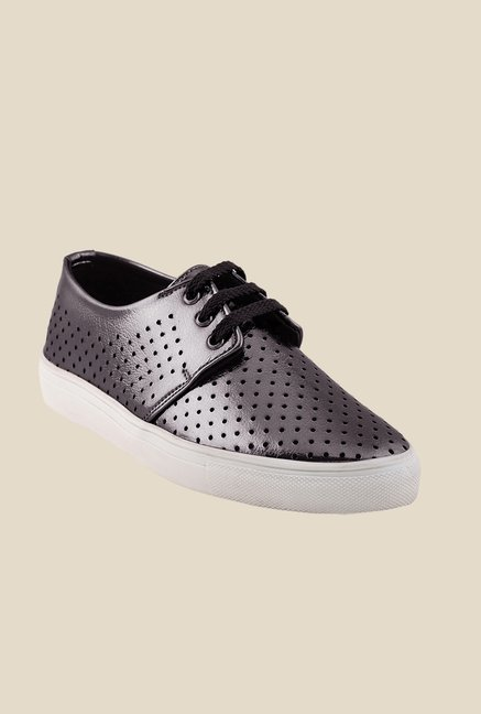 Bruno Manetti Dark Grey & White Derby Sneakers