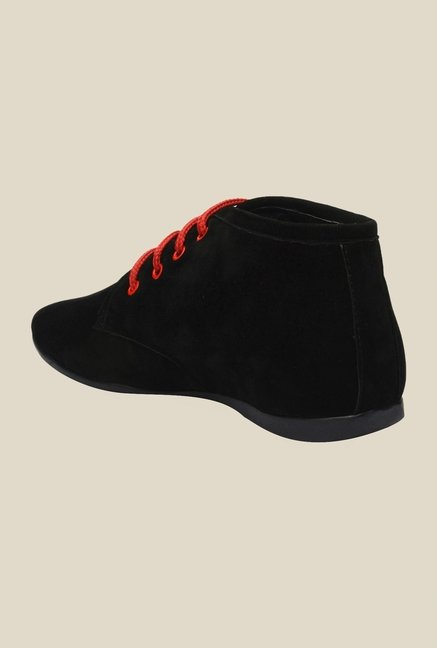 Bruno Manetti Black & Red Chukka Shoes