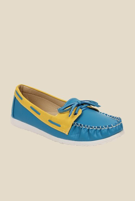Bruno Manetti Blue & Yellow Boat Shoes