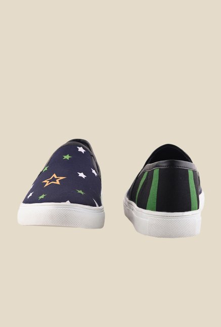 Bruno Manetti Navy & White Plimsolls