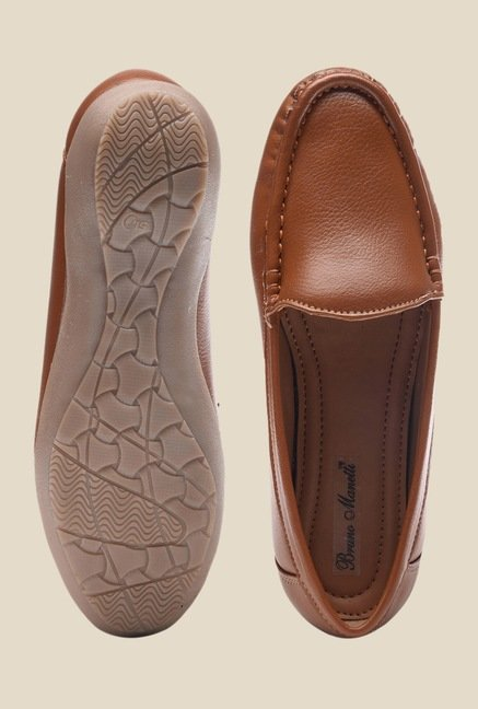 Bruno Manetti Tan Casual Loafers
