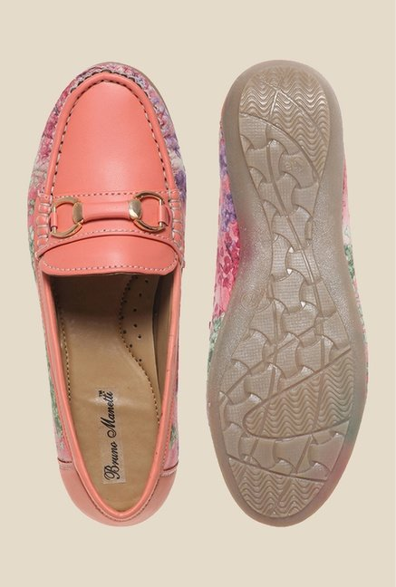 Bruno Manetti Peach & Pink Loafers