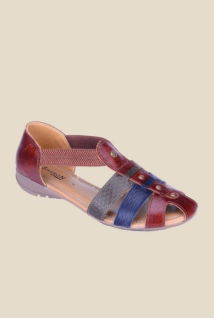 Khadim's Sharon Brown Casual Sandals