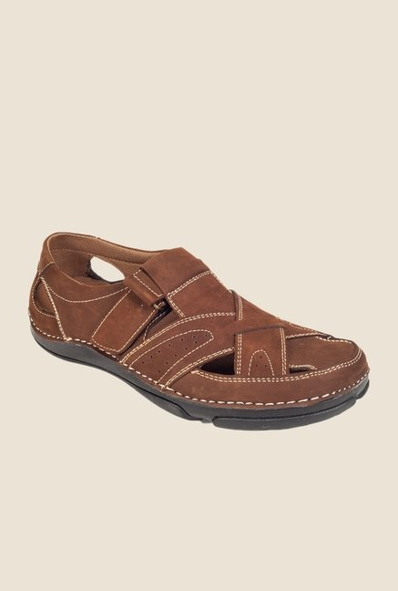 Khadim's British Walkers Dark Brown Fisherman Sandals